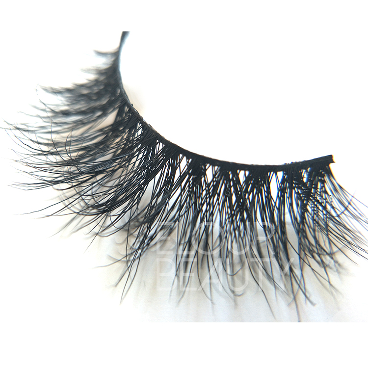 3D mink lashes with private label eyelash packaging China ED78