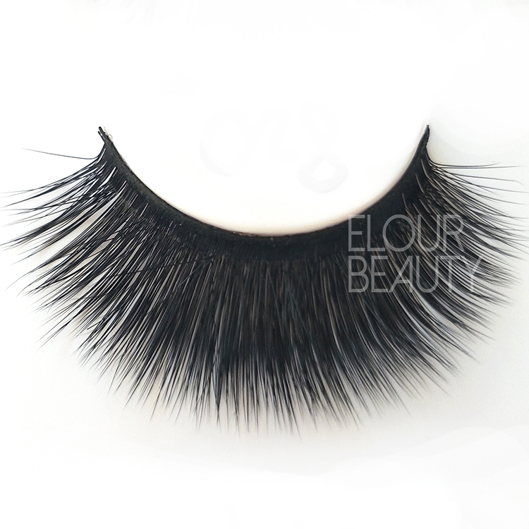 Beauty 3D faux mink volume lashes China factory wholesale ED76
