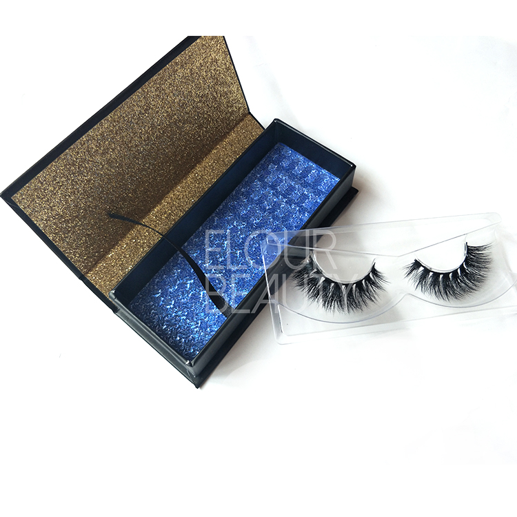 Custom package natural vegan full 3D mink eyelashes vendor China EL24