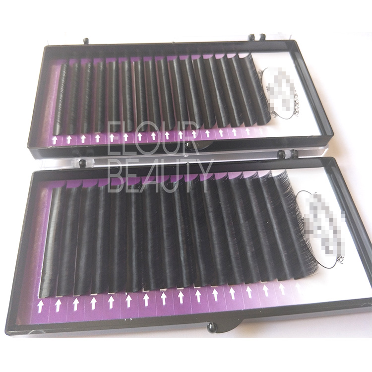 Best natural looking volume fans eyelashes extension own brand factory China EL43