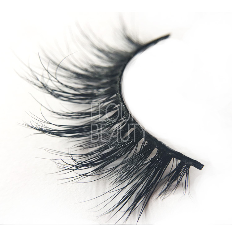 3D real mink false lashes with customer packaing China EJ84