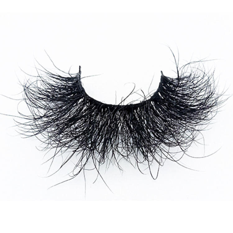 2021 Luxury wispy fluffy 8D volume full mink strip eyelashes wholesale custom package EY77