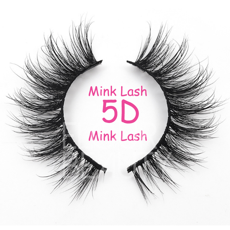 2019 newest 5D fluffy mink lash strips wholesale private label EL80