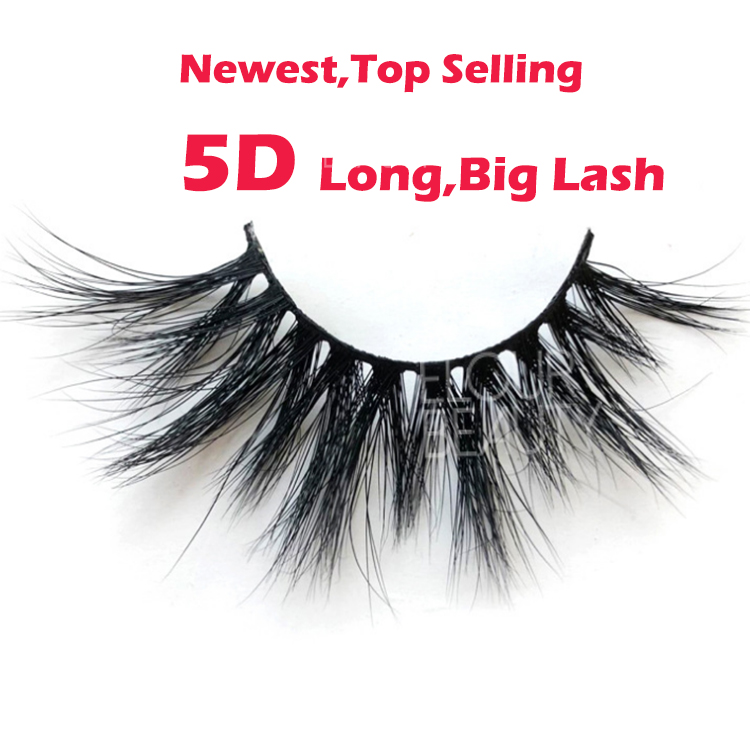 Newest long 5D mink lashes wholesale eyelash vendors EL95