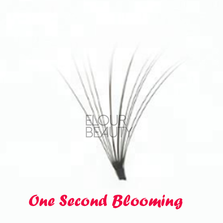 2018 new 1 second fans blooming eyelash extensions uk EL44