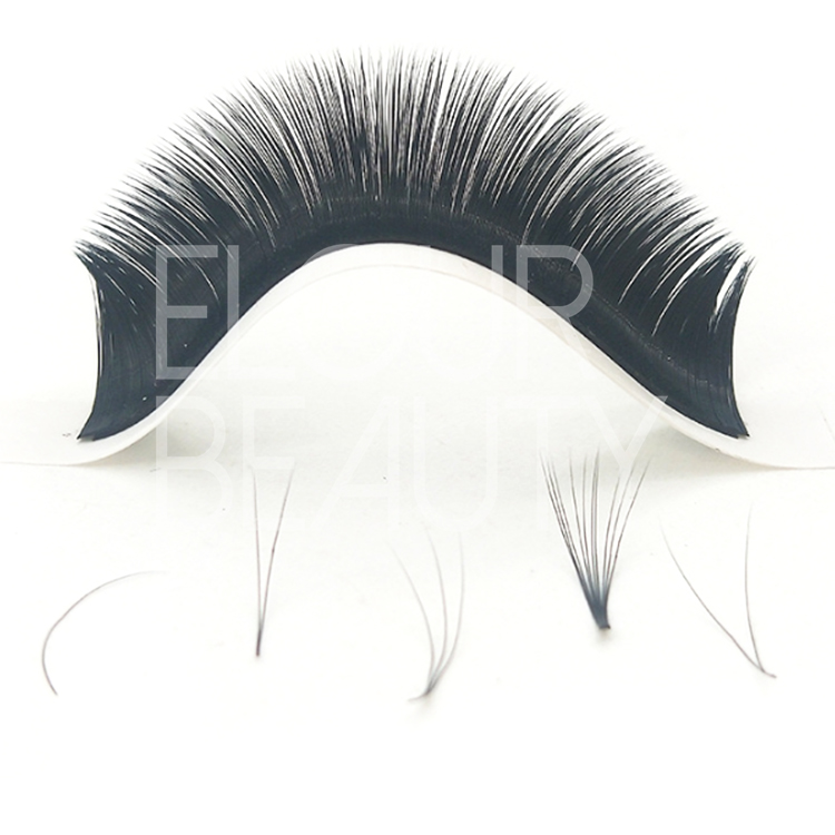 Private label easy fan volume blooming eyelash extensions wholesale China EL21