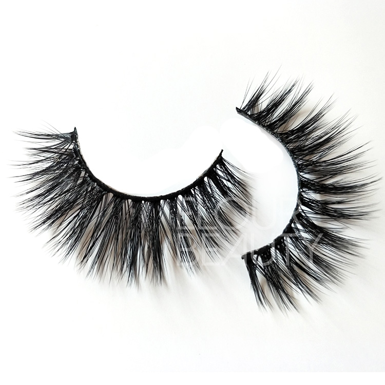 Perfect 3d silk lashes manufacturers China with custom lashes packaging EL112