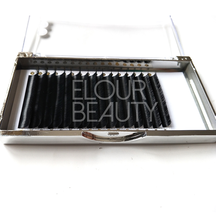 Best silk volume false eyelash extensions private label ED92