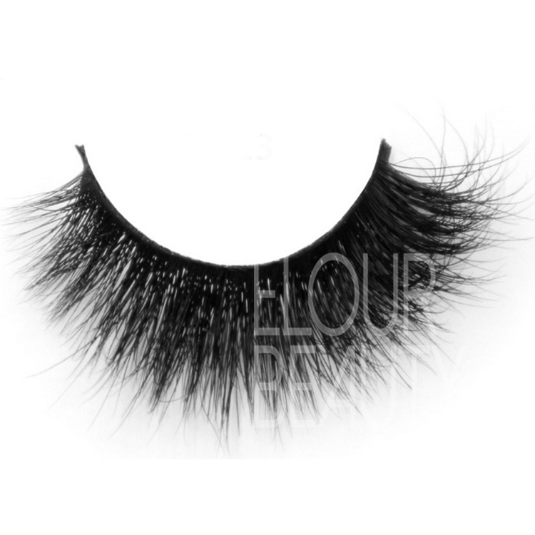 Siberian 3d wholesale mink eyelash with custom box & fast delivery ES41