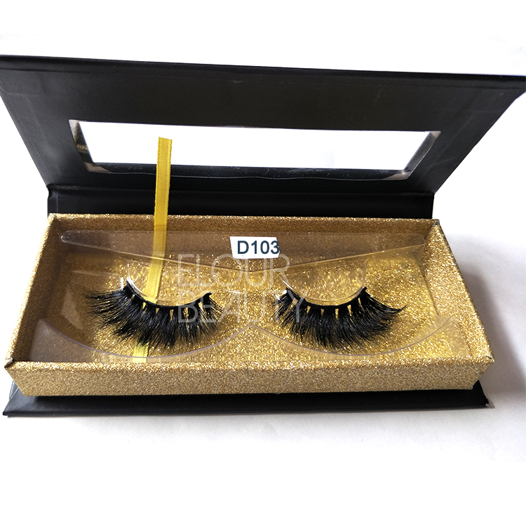 Wholesale private label mink 3d volume lashes China ED70