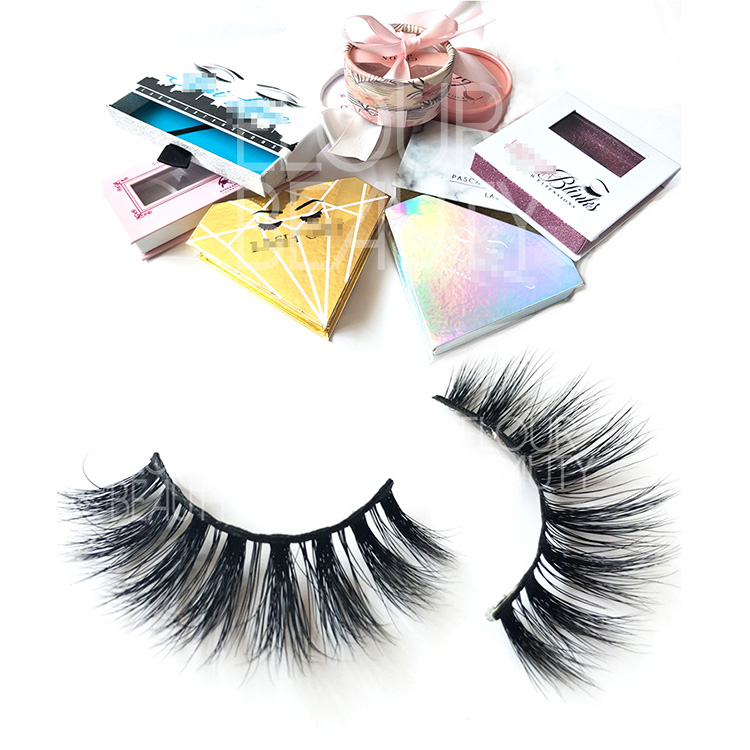 1c85505a5f9 New Private Label Cosmetics Packing 3d Real Mink Lash False Eye Lashes EL10
