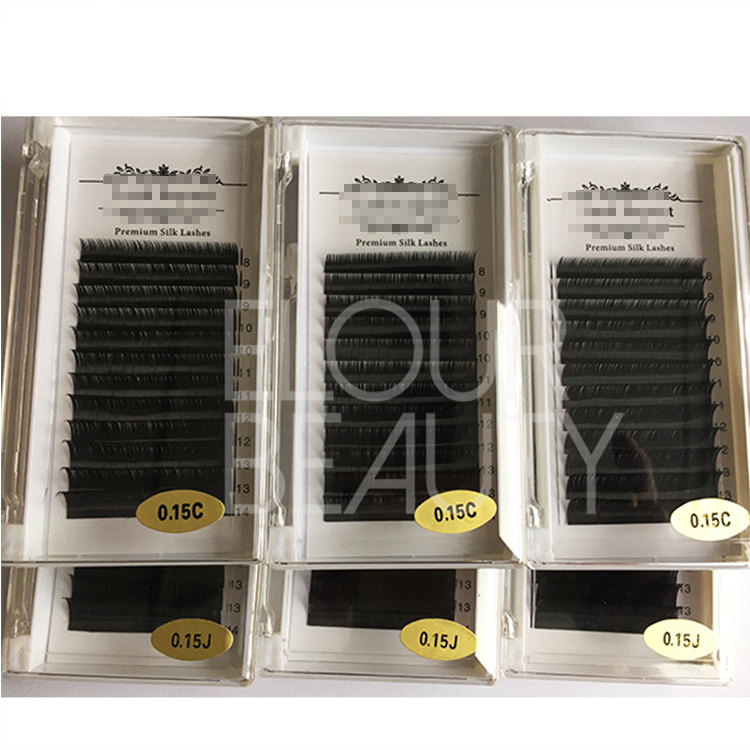 Wholesale prime silk lash extensions dallas with eyelash extension glue ES44