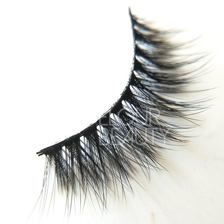 Best 3D mink faux lashes custom package wholesale ED41