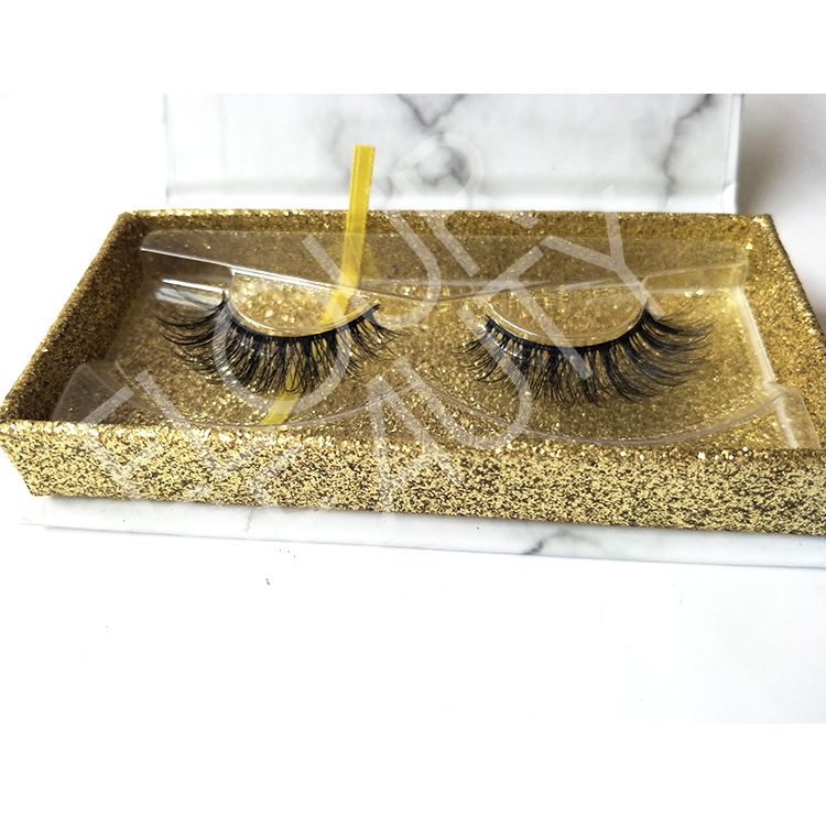 3D mink faux eyelashes with magnetic package wholesale ED56