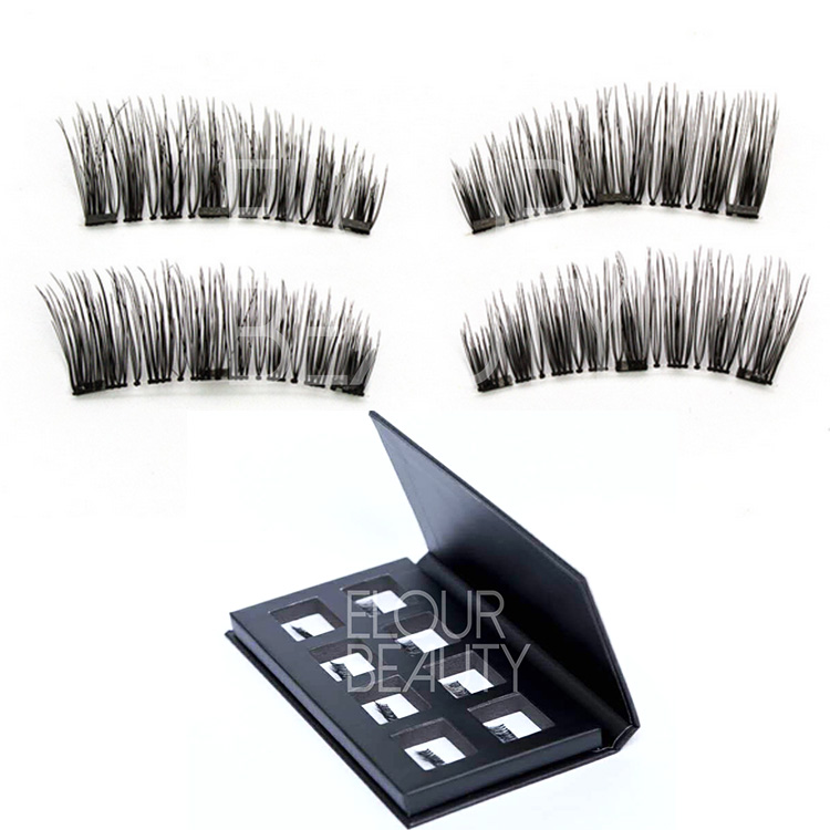 Best reusable 3 magnets false lashes with magentic boxes China EA103