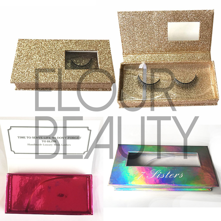 Private label mink lashes magnetic package boxes China  ED11