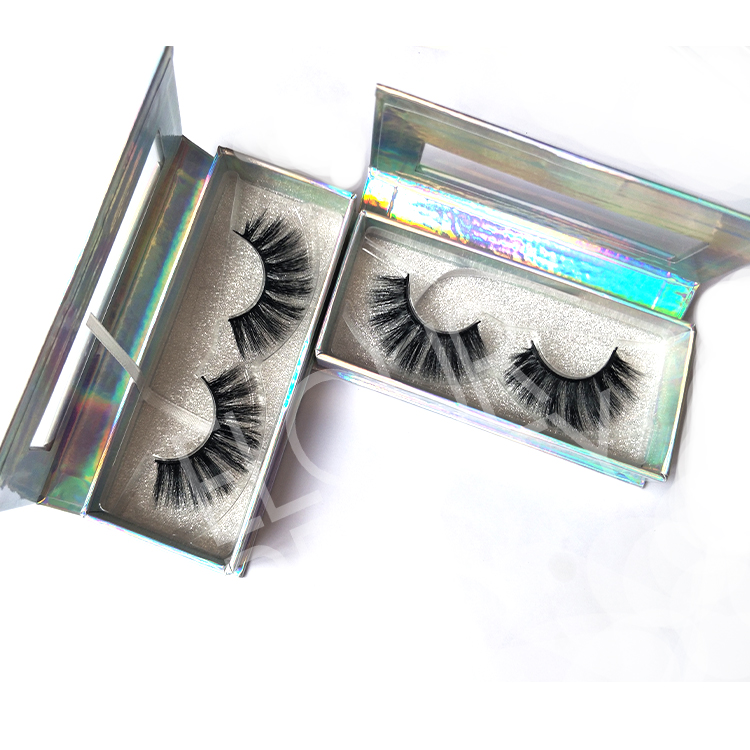 Russian volume double 3D layer faux mink eyelashes vendors China EL27
