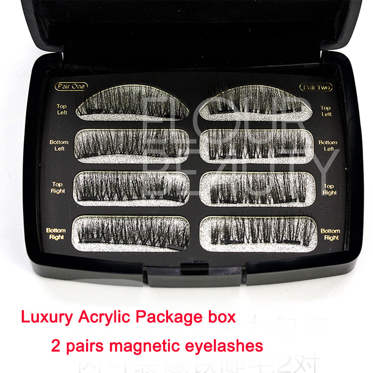 3D magnetic lashes with acrylic private label box wholesale EA90