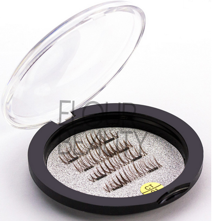 Brown natural 3D magnetic lashes wholesale supplies EA104