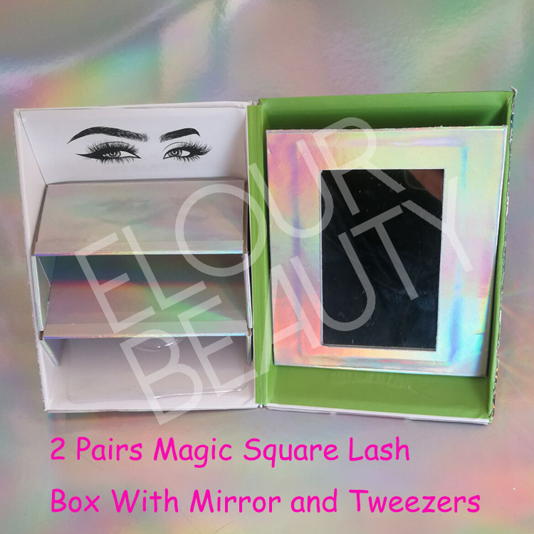 2019 new magic square private label lashes package vendor EL92