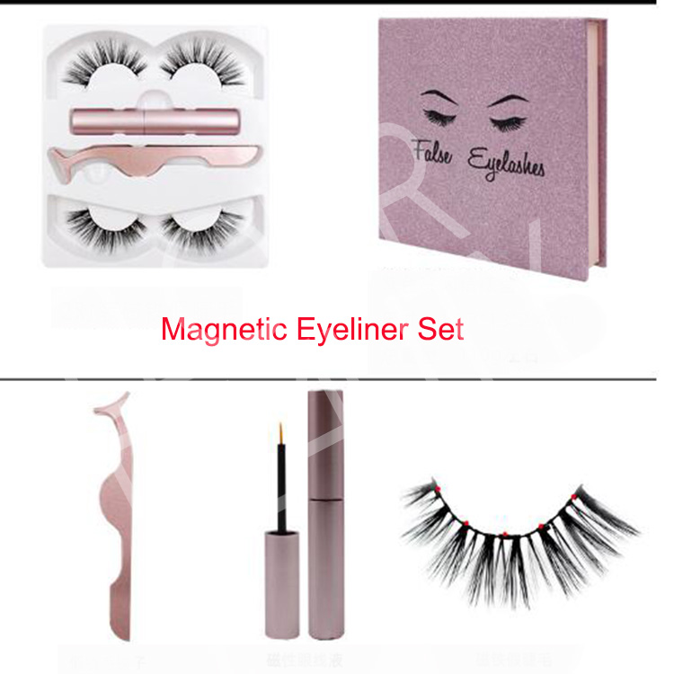 Natural Look waterproof and smudge resistant best magnetic eyeliner & lash system EY34