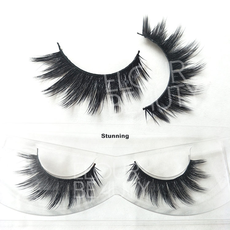 Private label faux mink volume 3d lash fiber China wholesale ED112