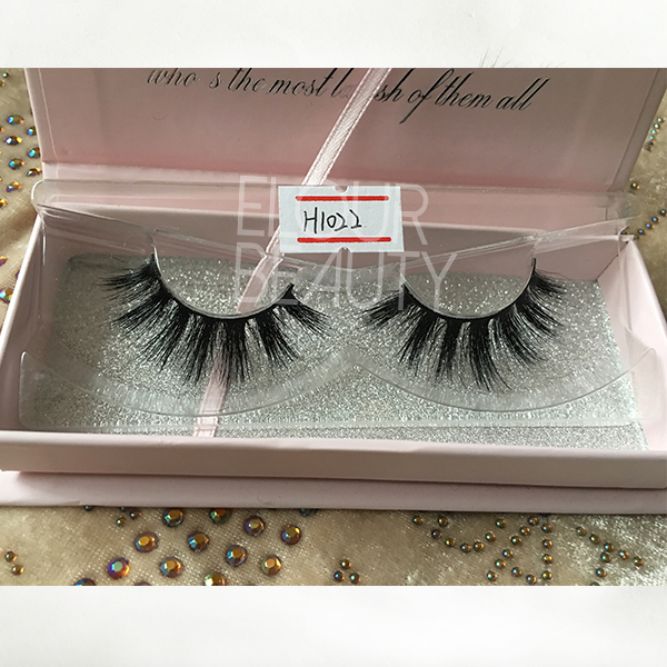 3D thick true horse hair eyelashes lashes ES108