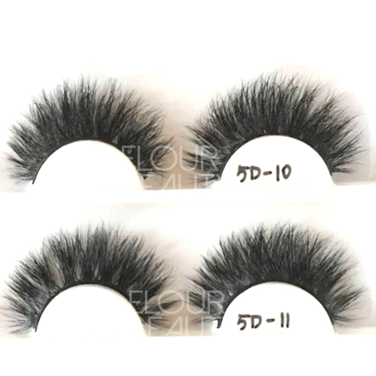 Luxury and fluffy vivid mink 5D eyelashes China factory wholesale EL67