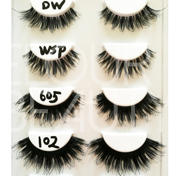 Good quality human hair ardell wispies lashes wholesale ES71
