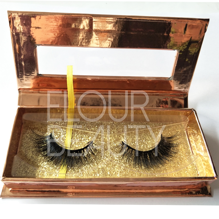 OEM magnetic package for wholesale mink strip lashes ED103