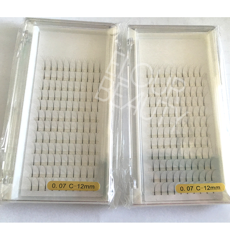 Newest premade fanned volume lash extensions glue free China manufacturer ED137