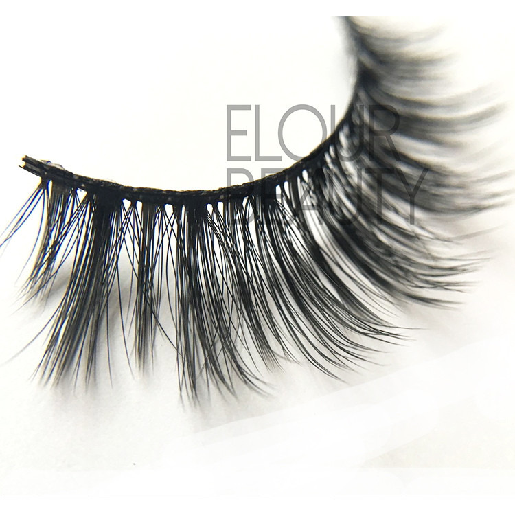 Own brand double layers 3d lash extensions UK EJ57
