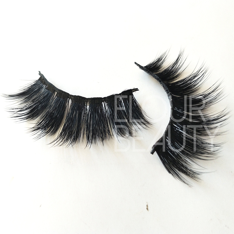 Best natural  3D faux mink volume false lashes manufacturer ED33