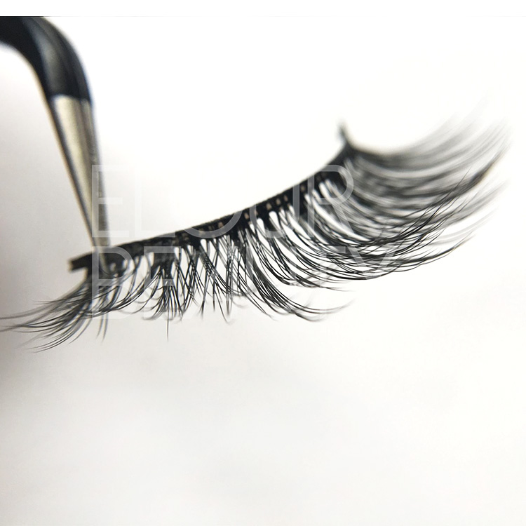 3D mink faux eyelashes with private label lashes packaging ED06