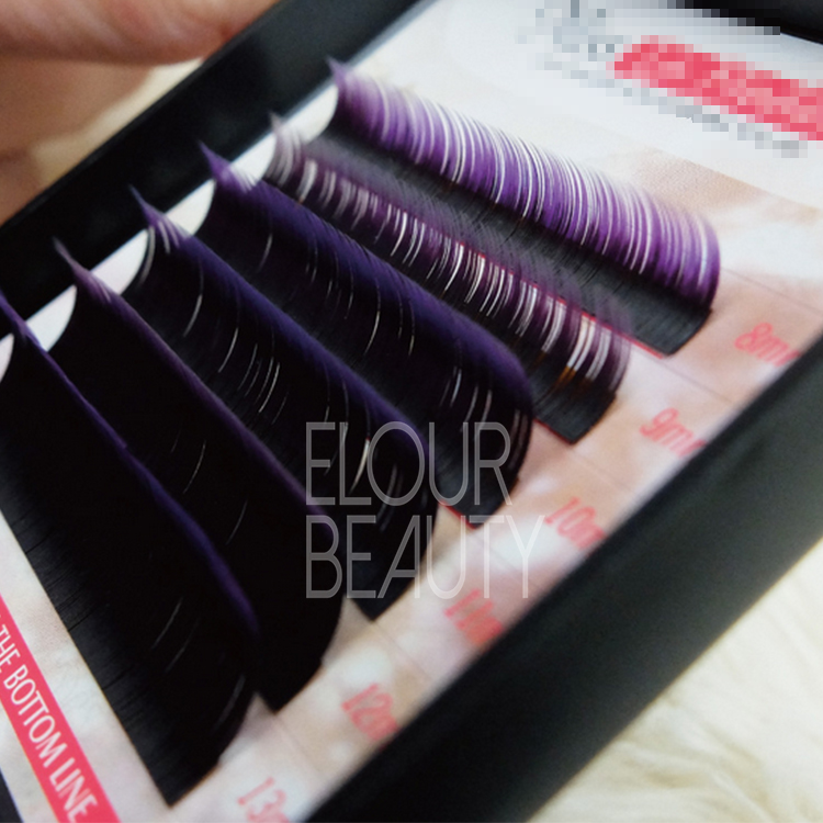 New popular blue green red  colored false eyelashes extensions ES35