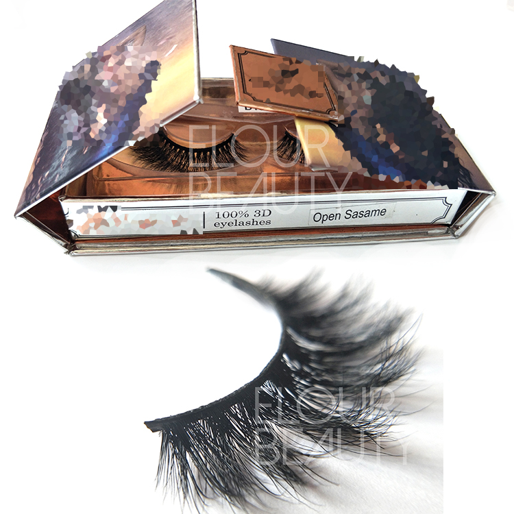 Volume 3d mink fur false lashes with luxury private label package vendor EL13