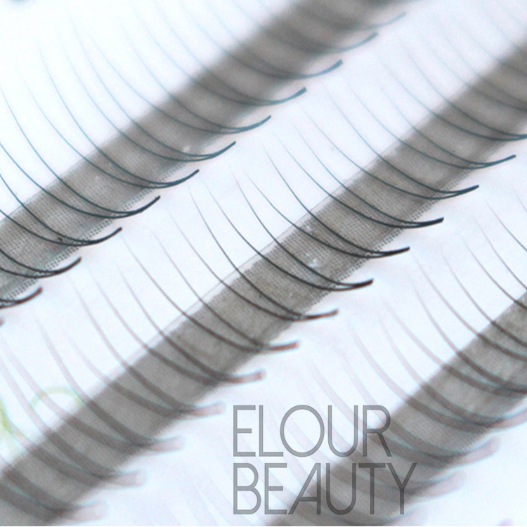 Private label high quality 2D individual lash extensions ES45