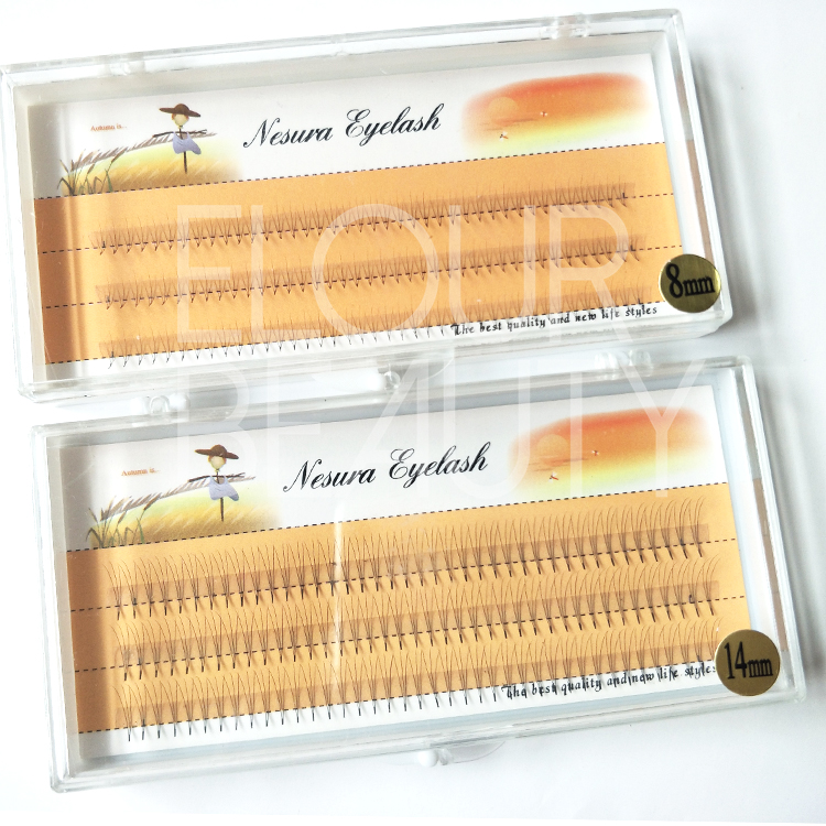 Wholesale cluster eyelash extensions private label China ED37