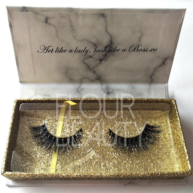 Wholesale miracle 3D volume mink eyelashes custom package USA ED62