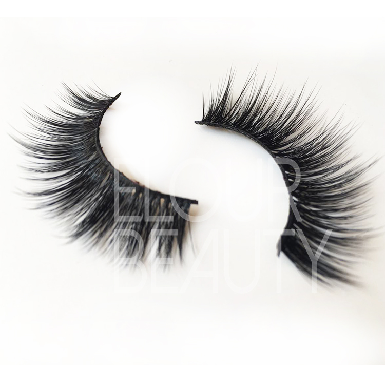 Volume 3D real mink eyelashes wholesale China EJ08