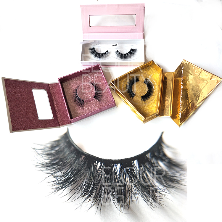 Volume 3d mink fur false lashes with luxury private label package