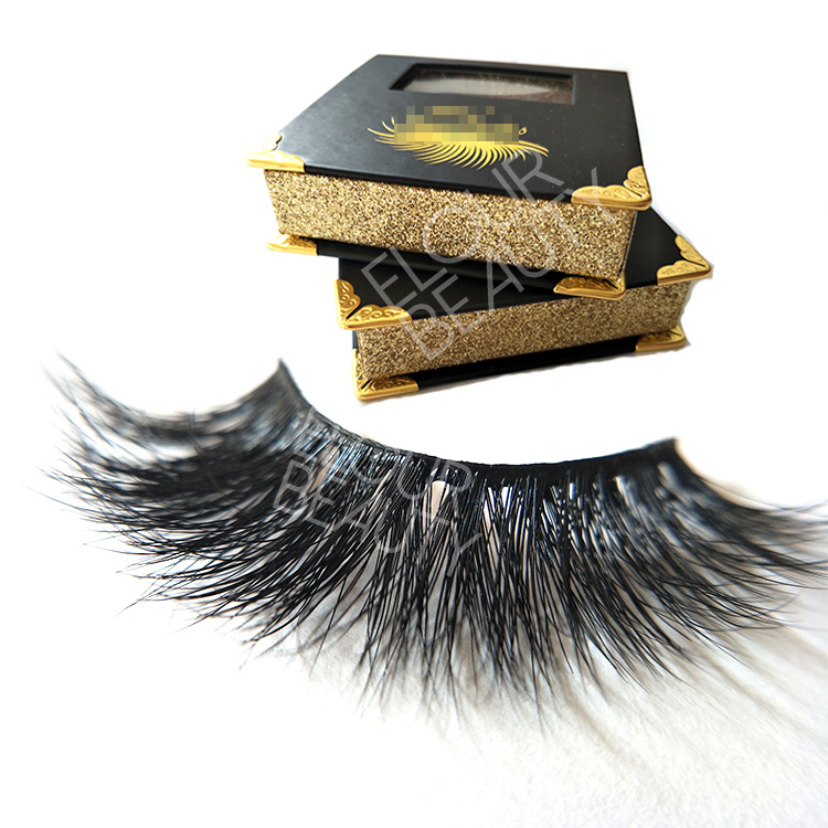 Best private label 3d mink strip lashes wholesale manufacturer EL110