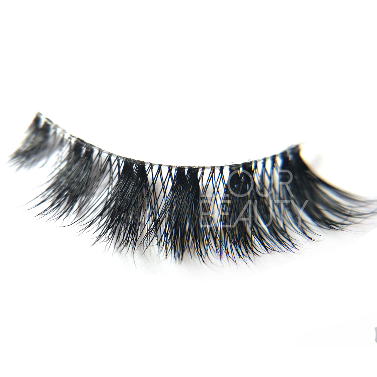 Best invisible band premium mink 3d lashes wholesale EL140