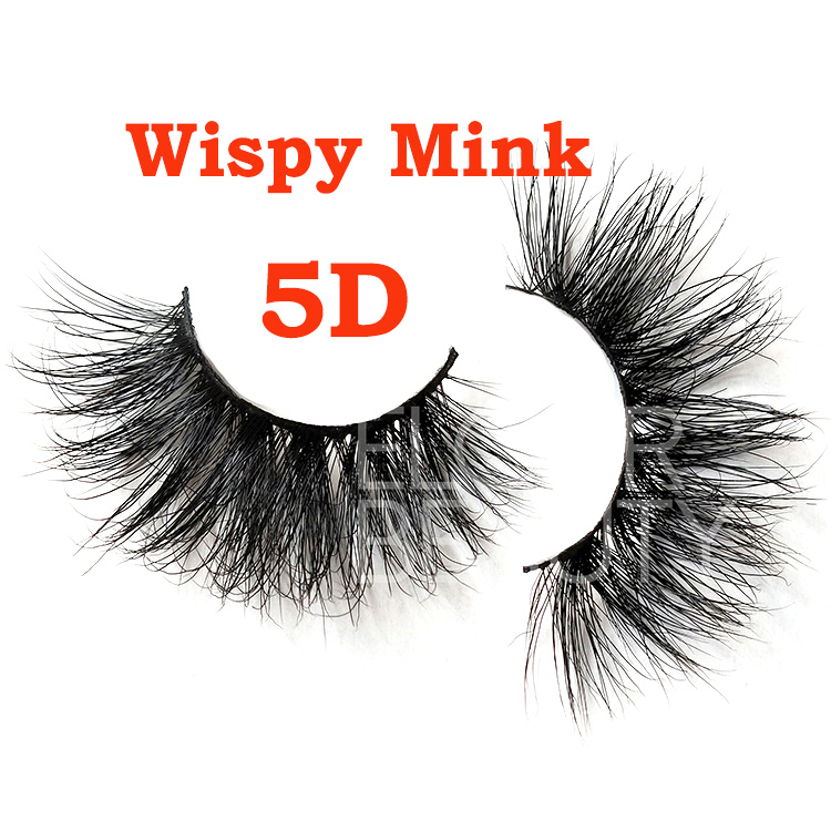 New fashion 5D 100% mink lashes wholesale suppliers EL103
