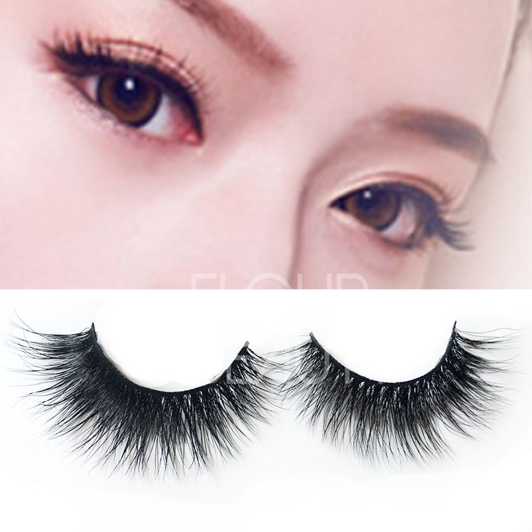 High quality most natural false eyelashes made by horse fur ES25