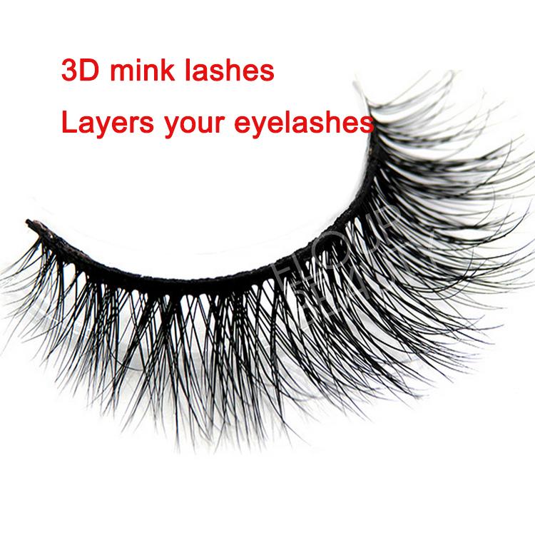 d2d4bcf30a0 Wispy 3D mink natural fake lashes China wholesale EA70 - Elour Lashes