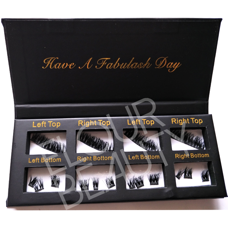Private label 3 magnets false lashes 3d real mink wholesale ED54