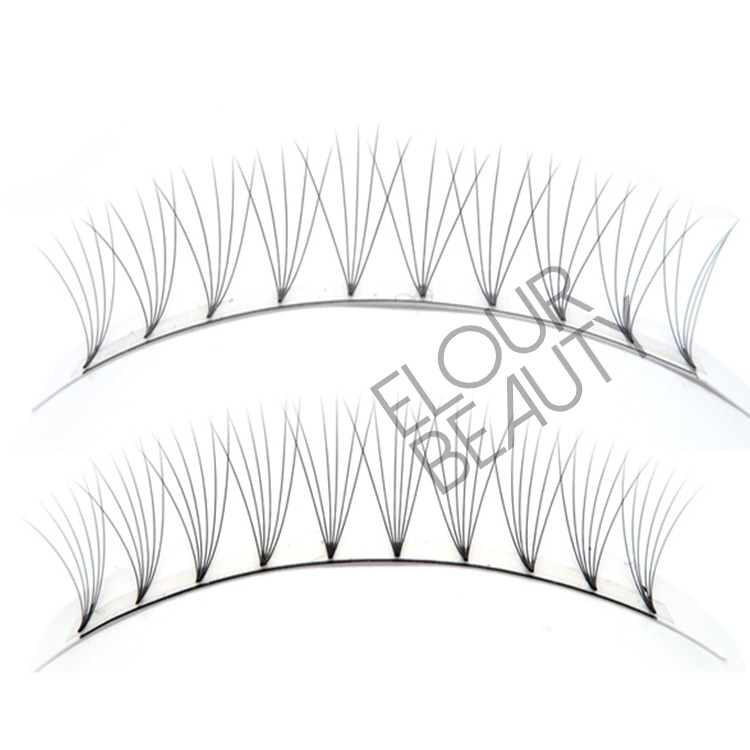 Short stem Russian volume fans lash extensions factory China EL55