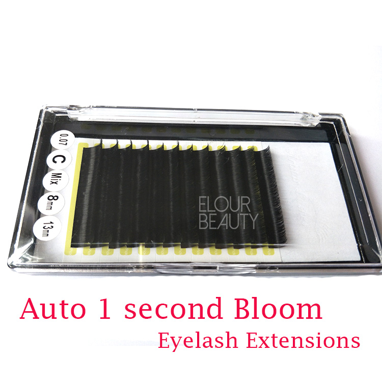 Rapid blooming volume mink lash extensions create your own brand China EL51