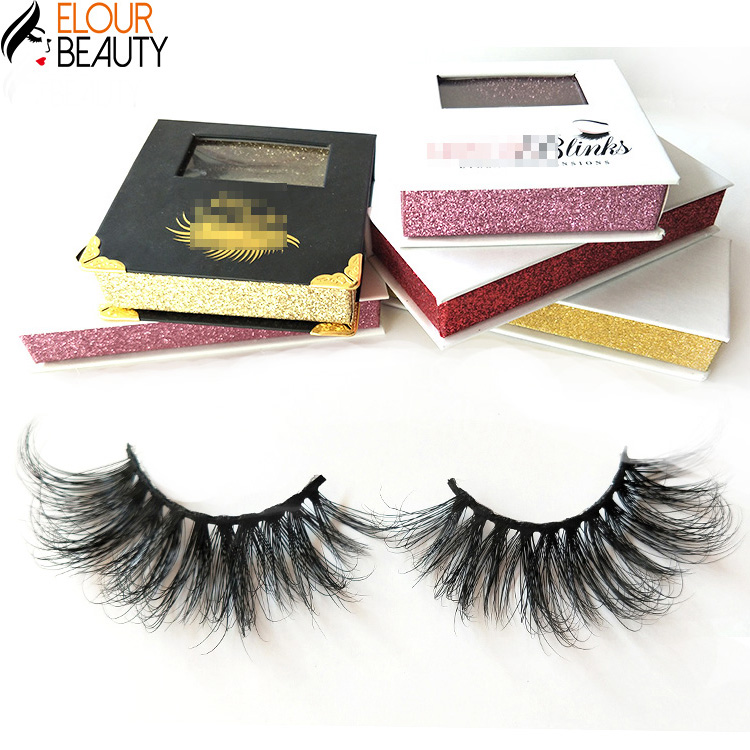 Elour luxury 5D mink lashes private label manufacturers EY05